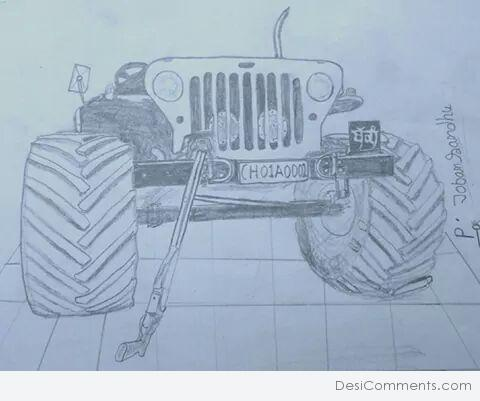 Jeep Pencil Sketch