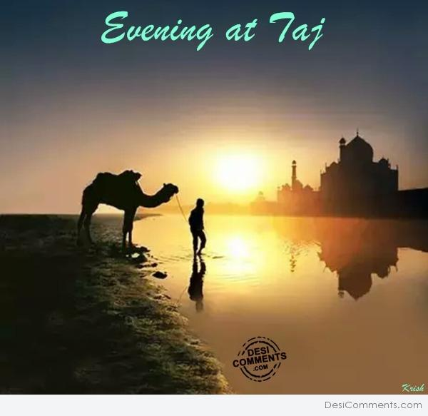 Evening at Taj
