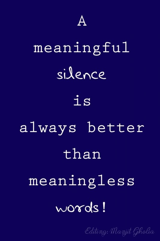 A Meaningful Silence
