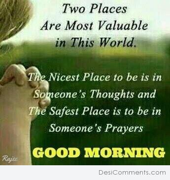 Picture: Two Places Are Most Valuable