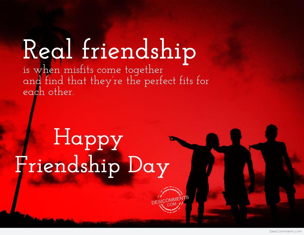 Friends are perfect happy frienship day for Perfect comment for a picture