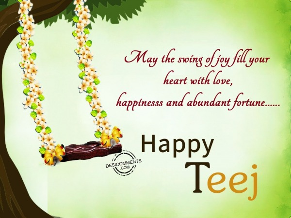 Your heart filled with happiness – Happy Teej