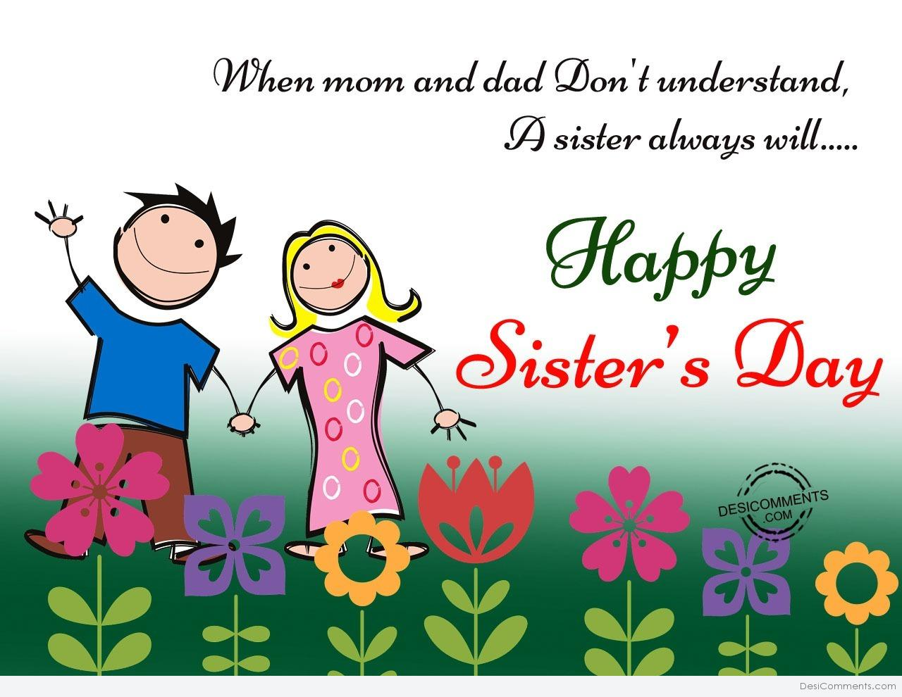 Sister's Day Pictures, Images, Graphics for Facebook, Whatsapp