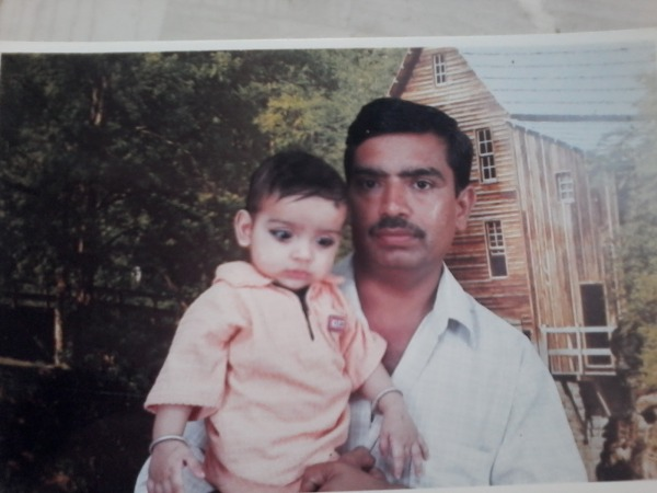 old photo with papa