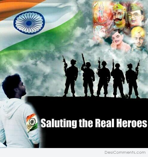 Saluting the real heros