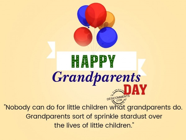 Picture: Nobody can do for little children, Happy Grandparents Day