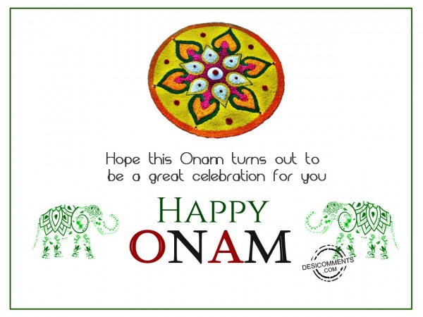 Picture: Hope this Onam turns out to be great celebration