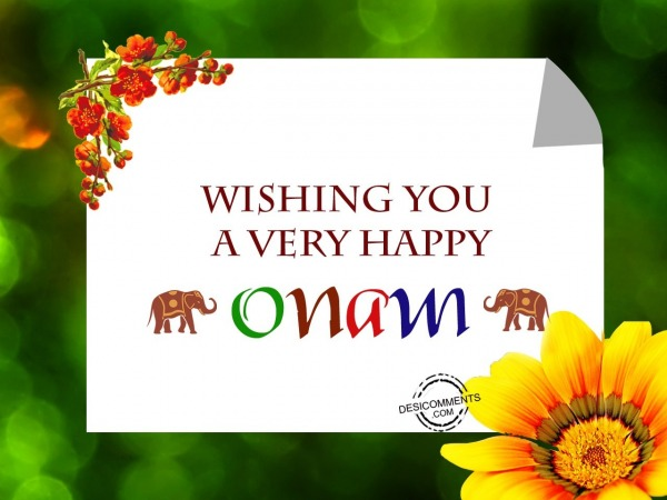 Picture: Wishing you a very happy Onam