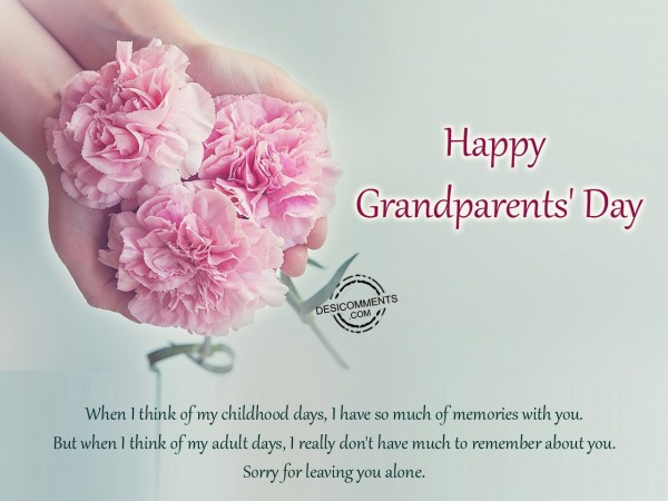 I have so much of memories with you – Happy Grandparents Day