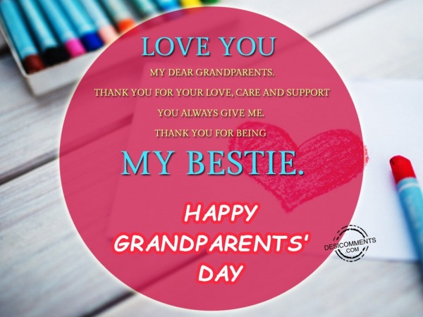 Happy Grandparents Day – Love you my dear grandparents