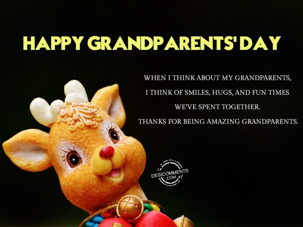 Happy Grandparents Day – Thanks for being amazing grandparents
