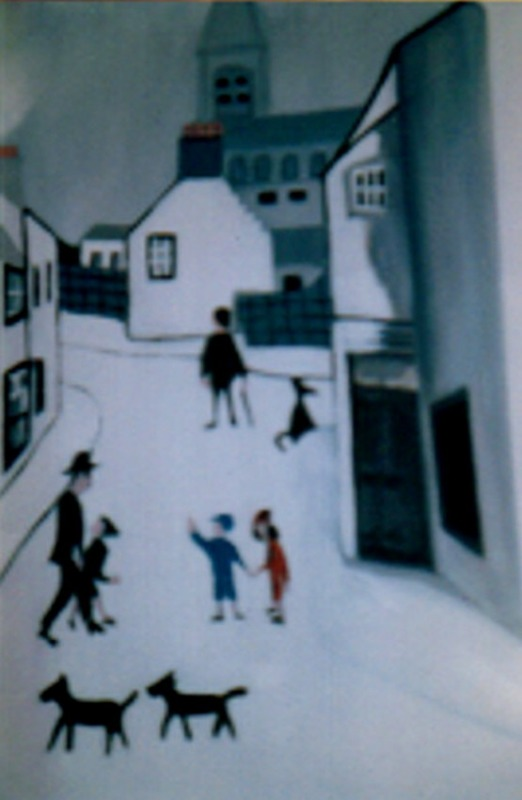 """Lowry Style """"ANSTRUTHER FIFE """" ARTIST A MITCHELL"""