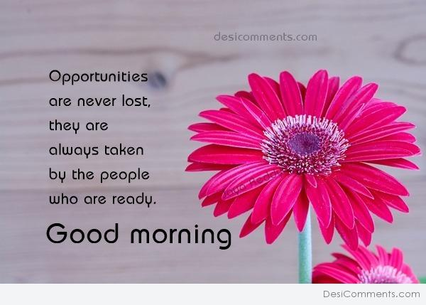 Good Morning Opportunities