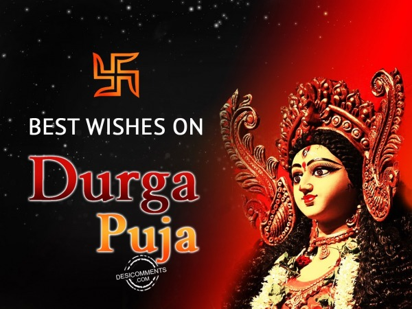 Picture: Best wishes on Durga puja