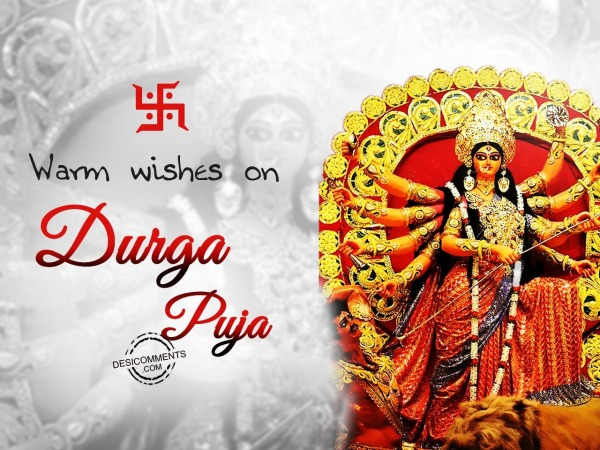 Picture: Warm wishes on Durga Pooja