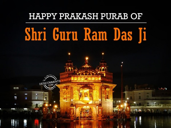 Picture: Happy Prakash Purab of Shri Guru Ram Das Ji