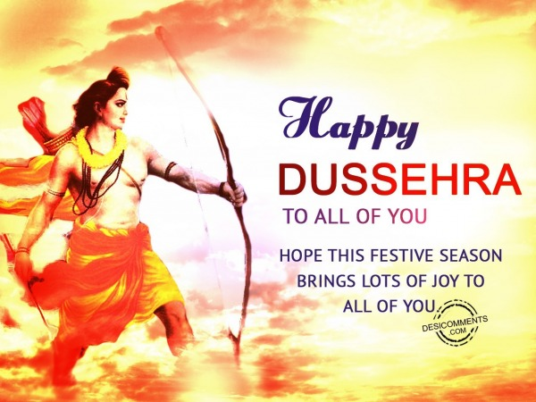 Happy Dussehra to all of you