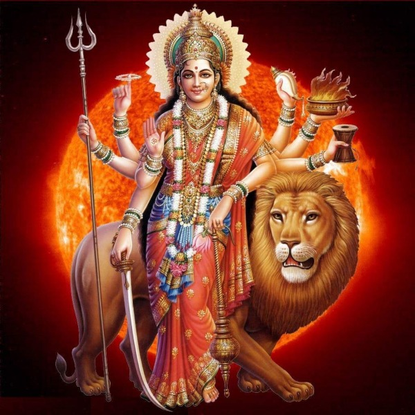 Picture: Indian Goddess With Lion