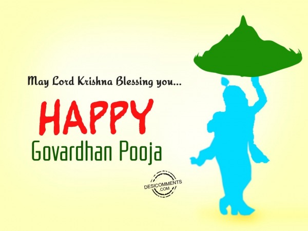 Picture: May lord Krishna blessing you, Happy Govardhan Pooja
