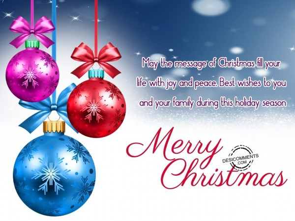 May the message of christmas