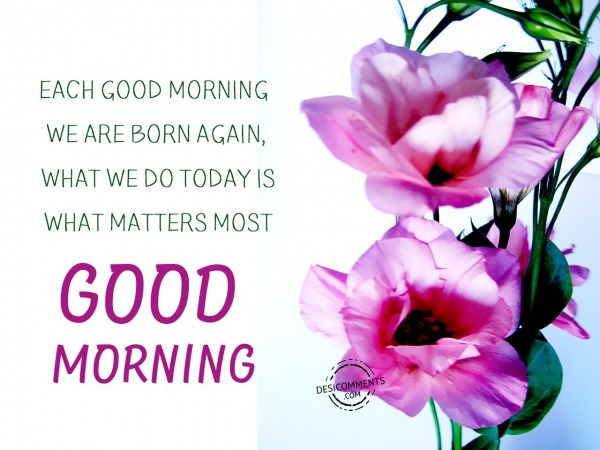 Each Good Morning - Good Morning