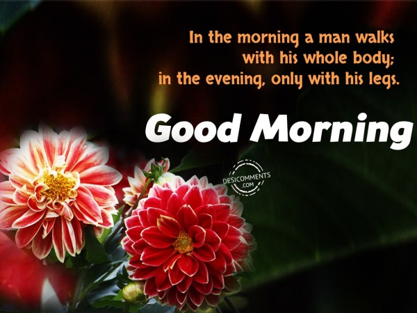 In The Morning A Man Walks - Good Morning