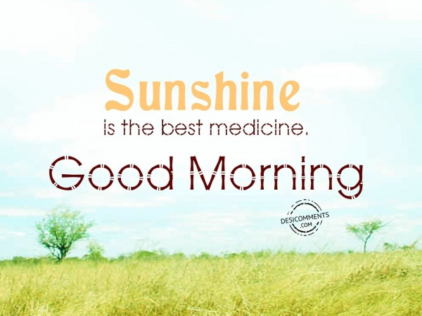 Sunshine Is The Best Medicine - Good Morning