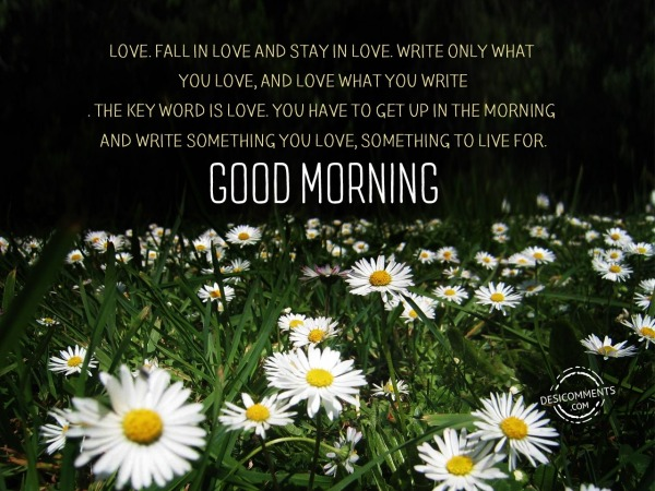 Picture: The Key Word Is Love – Good Morning