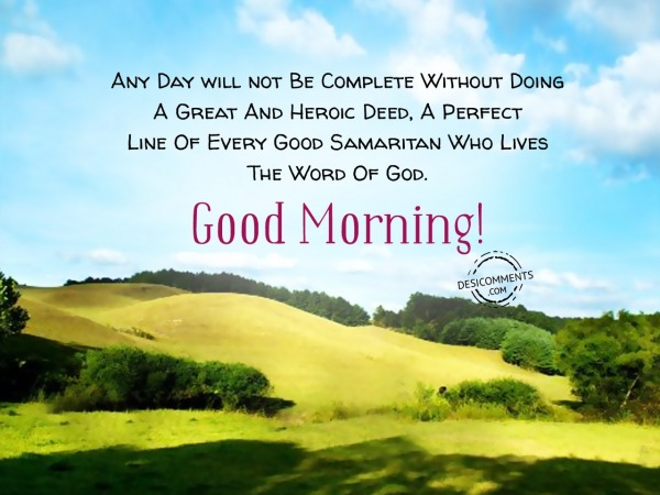 The Word Of God - Good Morning