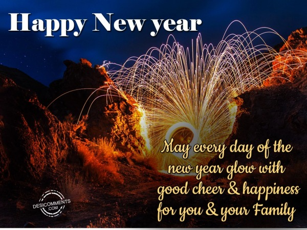 May every Day of the new year glow with good cheer