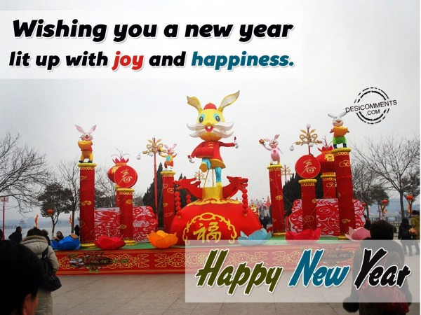 Wishing You a New Year lit up with joy and happiness