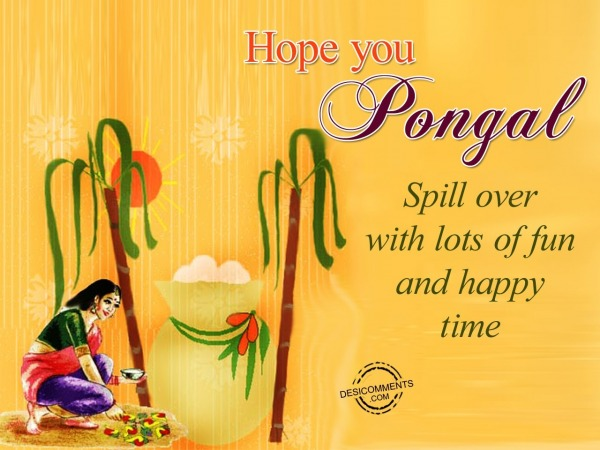Hope you Pongal Spill Over with lots of fun