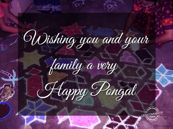Picture: Wishing you and your family a very Happy Pongal