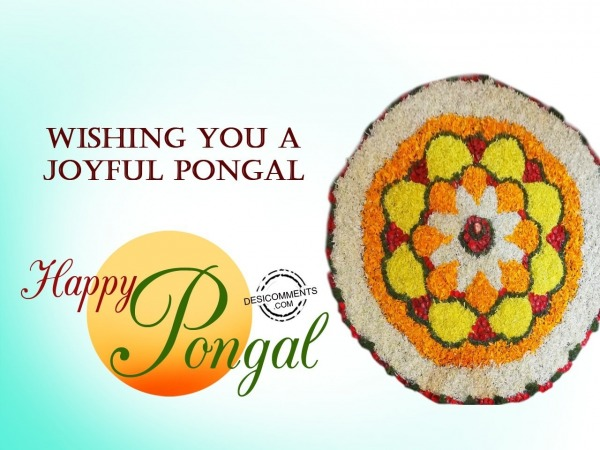 Wishing you a joyful Pongal
