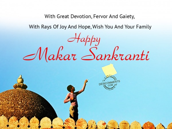With great devotion - Happy Makar Sankranti