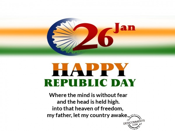 Picture: 26 january, Happy Republic Day