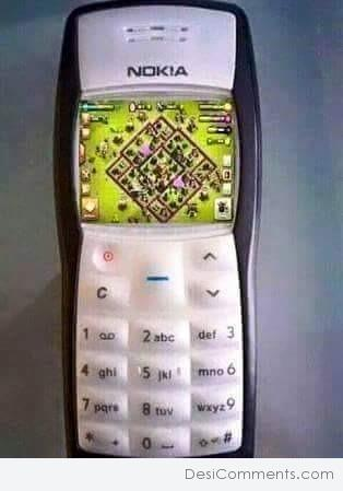 Clash Of Clans Game In Nokia 1100