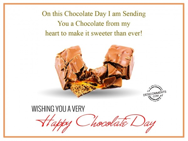 Picture: Sending You a Chocolate From My Heart to Make It Sweeter Than Ever