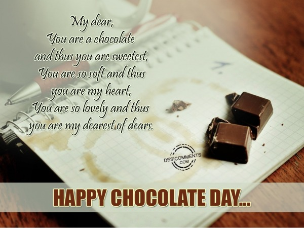 Picture: You Are A Chocolate and Thus You Are Sweetest