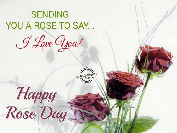Picture: Sending You A Rose To Say… I Love You