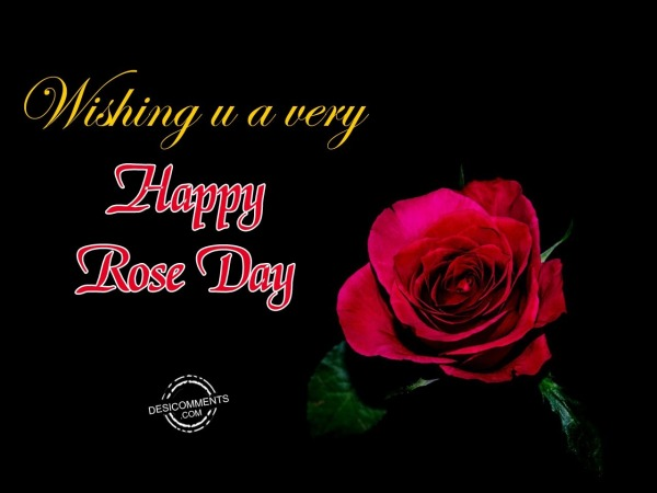 Picture: Wishing You A Very Happy Rose Day