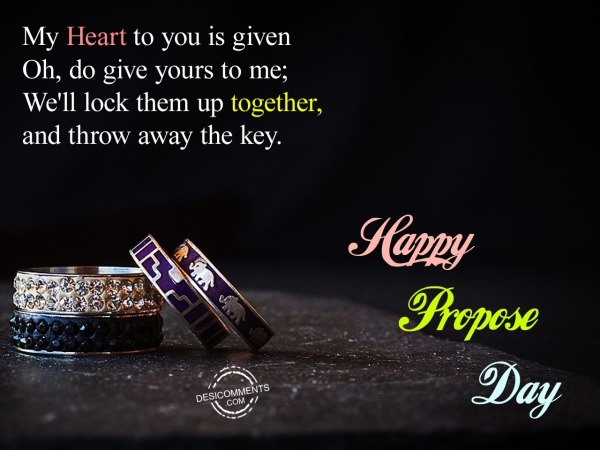 Picture: Wishing You A Very Happy Propose Day