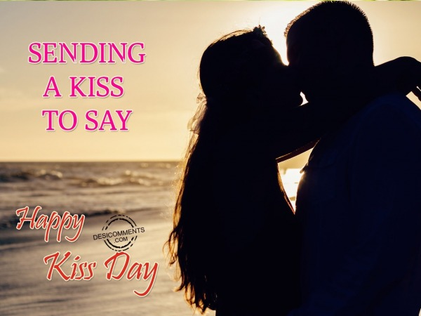 Sending A Kiss To Say- Happy Kiss Day