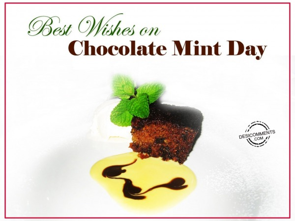 Best Wishes on Chocolate Mint Day