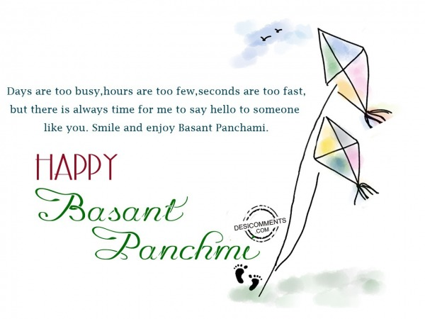 Smile and enjoy Basant Panchmi