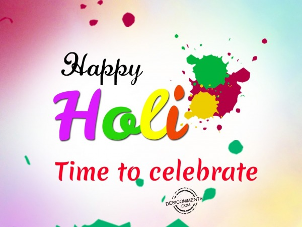 Picture: Time to celebrate, Happy Holi