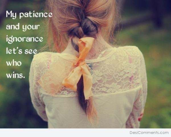 Picture: My Patience