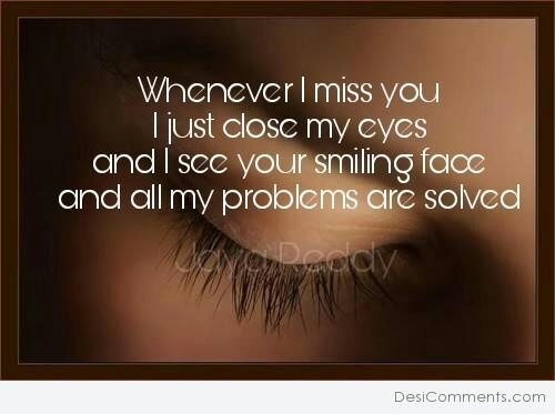 Picture: When Ever I Miss You