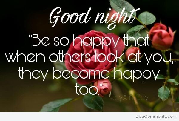 Good Night - Be So Happy