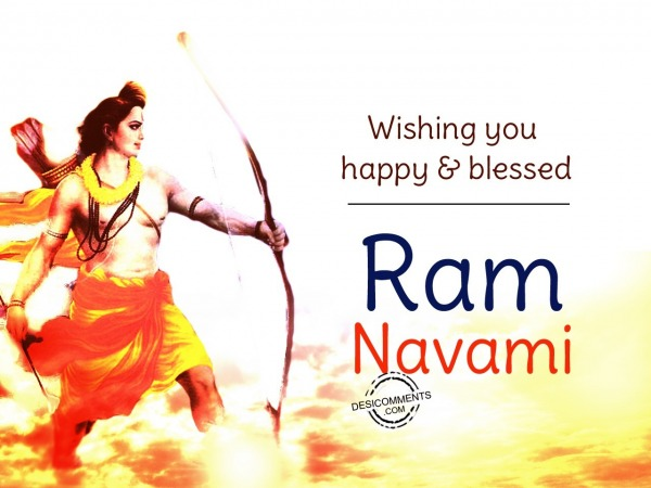 Picture: Wishing you happy & blessed ram navami